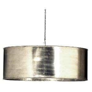 Gertrude - SIlver Metal Drum Light