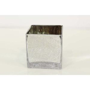 Ruby - Mirror Crackle Cube Large