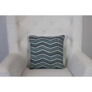 Regina - Teal Ivory Beaded Pillow