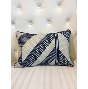 Stacy - Navy Grey Pillow