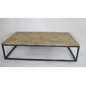 Jocelyn - Wood Iron Coffee Table