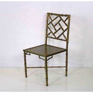 April - Brass Metal Dining Chair