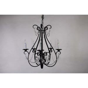 Nina - Iron Crystal Chandelier