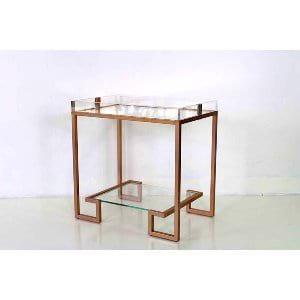 Ellen - Copper Lucite Side Table