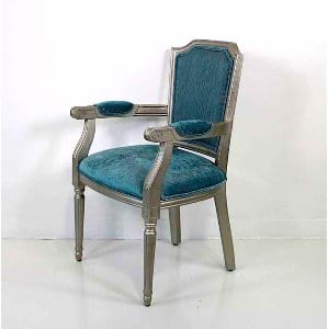 Maybelle - Teal Silver Chair
