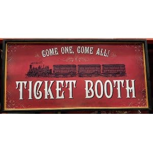 Ticket Booth Sign