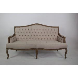 Gloria - Beige Tufted Sofa
