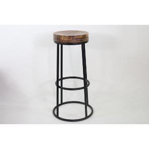 Miranda - Wood Iron Barstool