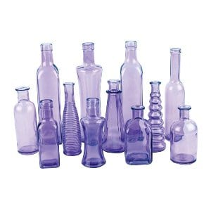 Alicia - Assorted Purple Bud Vases