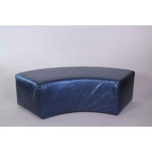 Ella Curved Bench-Shimer Sapphire