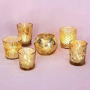 assorted votives gold