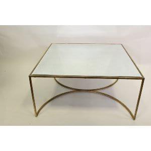 Bea - Gold Mirror Coffee Table