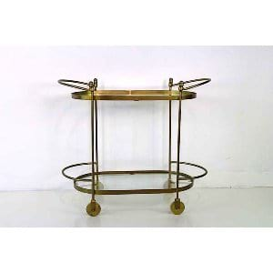 Clarissa - Gold Bar Cart