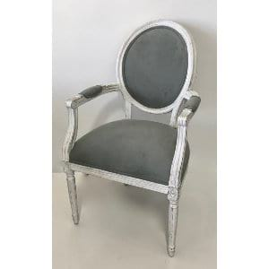 Dorothy - Sage White Velvet Chair