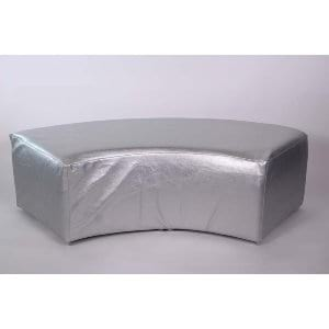 Ella Curved Bench-Shimmer Mercury