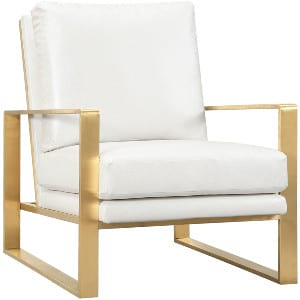 Mott - Gold with White Leather