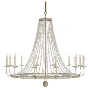 Beatrix - White Pearl Beaded Chandelier