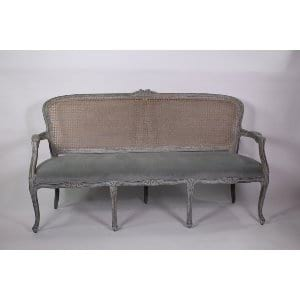 Belle - Grey Blue Cane Sofa