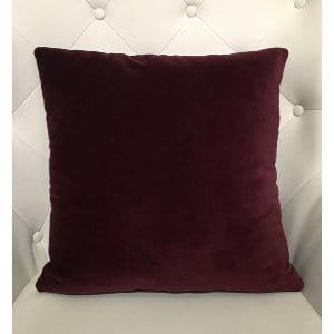 Priya - Wine Velvet Pillow