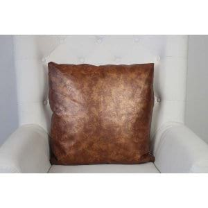 Jaelyn - Copper Leather Pillow
