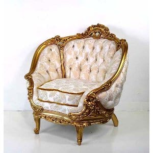 Rosabella - White Gold Chair