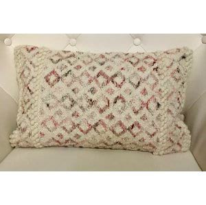Brittany - White Pink Diamond Pillow