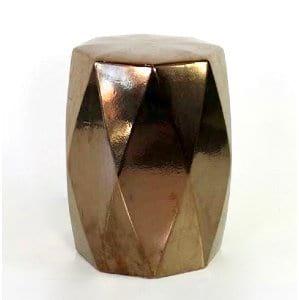 Marcia - Gold Diamond Geo Garden Stool