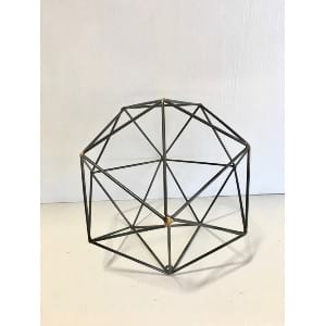 Agnes - Black Geometric Shape Large Round