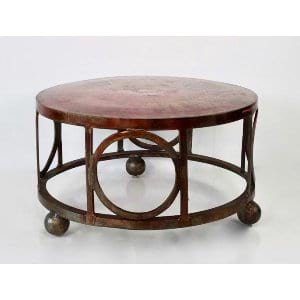 Kristi - Copper Round Coffee Table