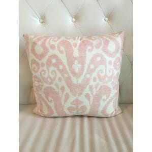 Tonya - Pink White IkatPillow