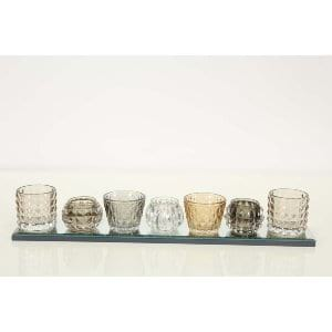 Chelsea - Mirror Tray with Assorted Glass Votives