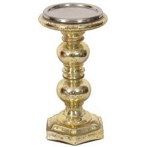 Fern- Gold Mercury Pillar Holder