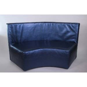 Zoey - Shimmer Sapphire Curved Bench