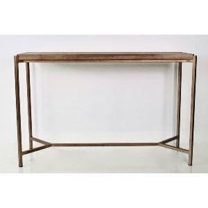 Elaine - Wood Copper Sofa Table