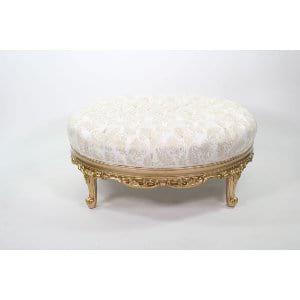 Mirabella - White Gold Ottoman