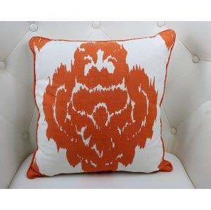 Paisley - Orange WhitePillow