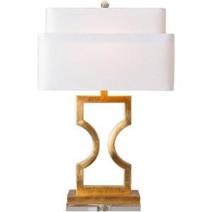Carla - Gold Geo Table Lamp