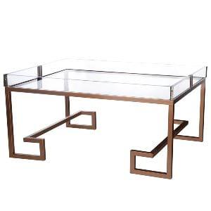 Ellen - Copper Lucite Coffee Table