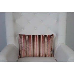 Britta - Pink Merlot Gold Stripe Oblong Pillow