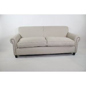 Ruth - Beige Nailhead Trim Sofa