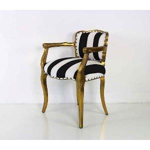 Katia - Black White Gold Chair