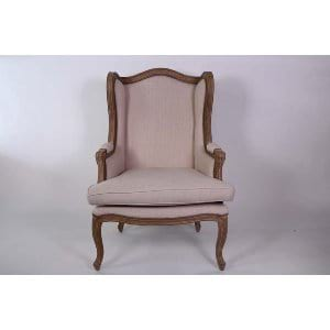 Maxine - Beige Wing Back Chair