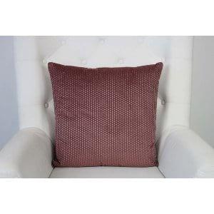 Elodie - Burgundy Blush Polka Dot Pillow