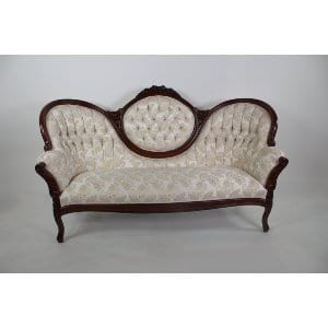 Georgia - White Gold Sofa