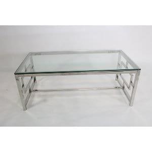 Savannah - Chrome Glass Coffee Table