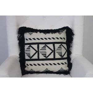 Keegan - Black Ivory Woven Pillow