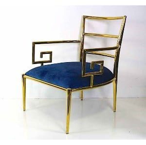Irma - Blue Gold Chair