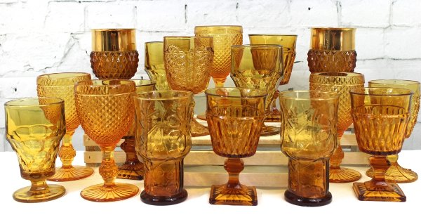 Assorted Amber Goblets