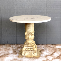 Razzle Marble-Top Side Table