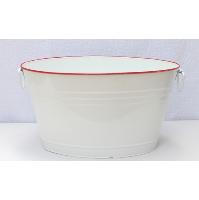 White Enamel Drink Tub